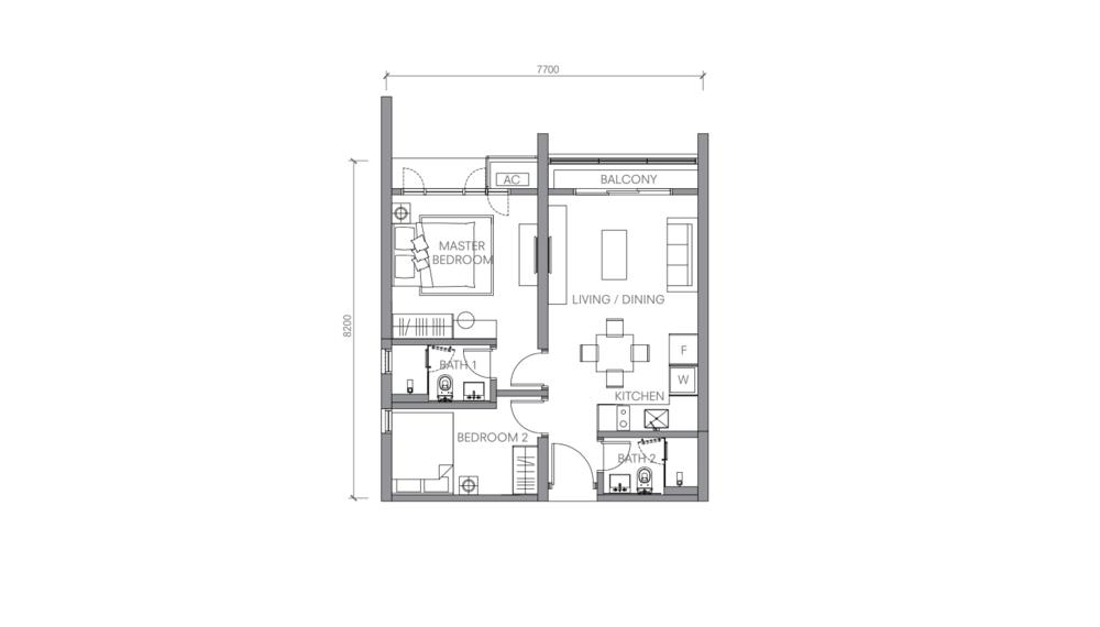 BloomsVale Type F1 Floor Plan