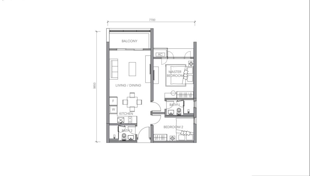 BloomsVale Type F2 Floor Plan