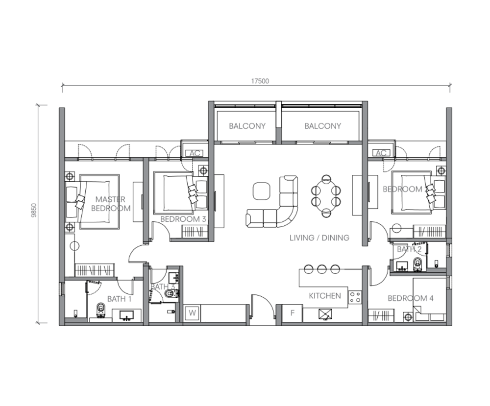 BloomsVale Type G2 Floor Plan