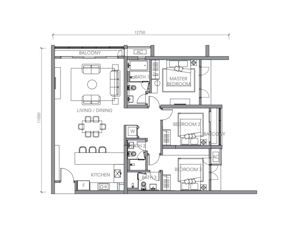 BloomsVale Type H1 Floor Plan