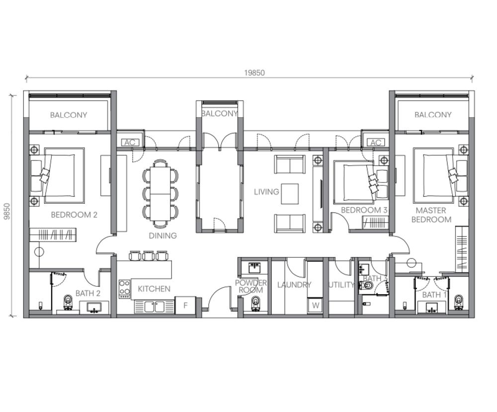 BloomsVale Type J Floor Plan