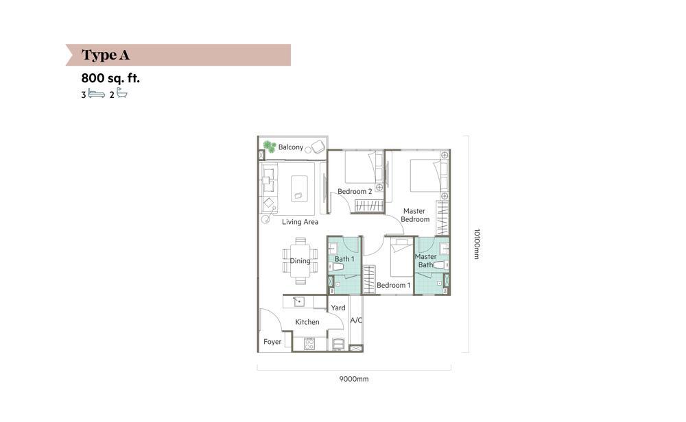 The Valley @ SkySierra Type A Floor Plan