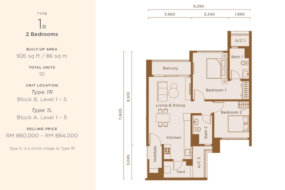 One Cochrane Residences Type 1 Floor Plan