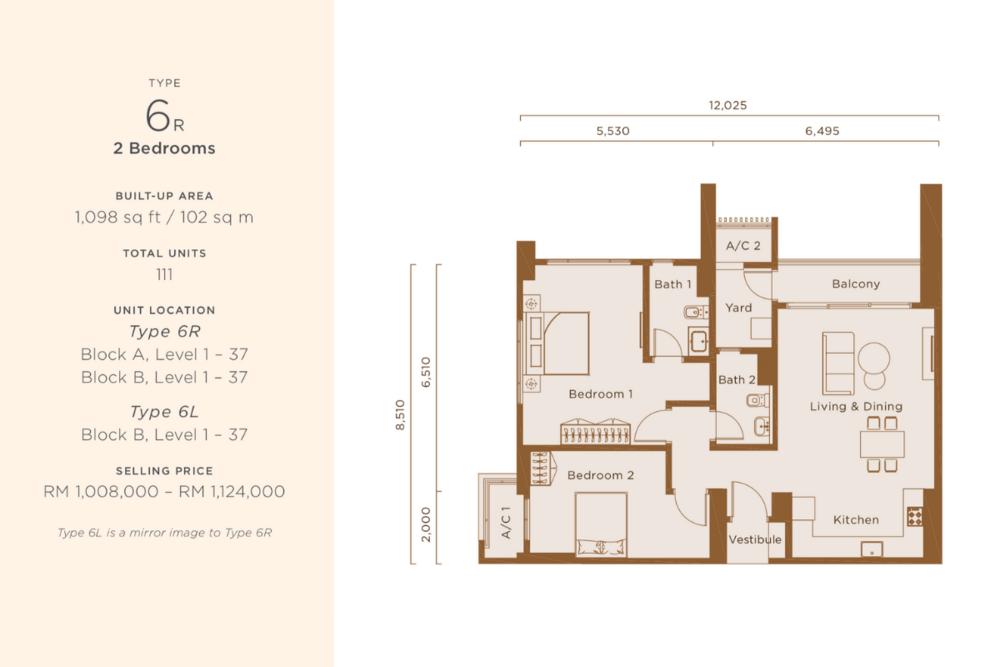 One Cochrane Residences Type 6 Floor Plan