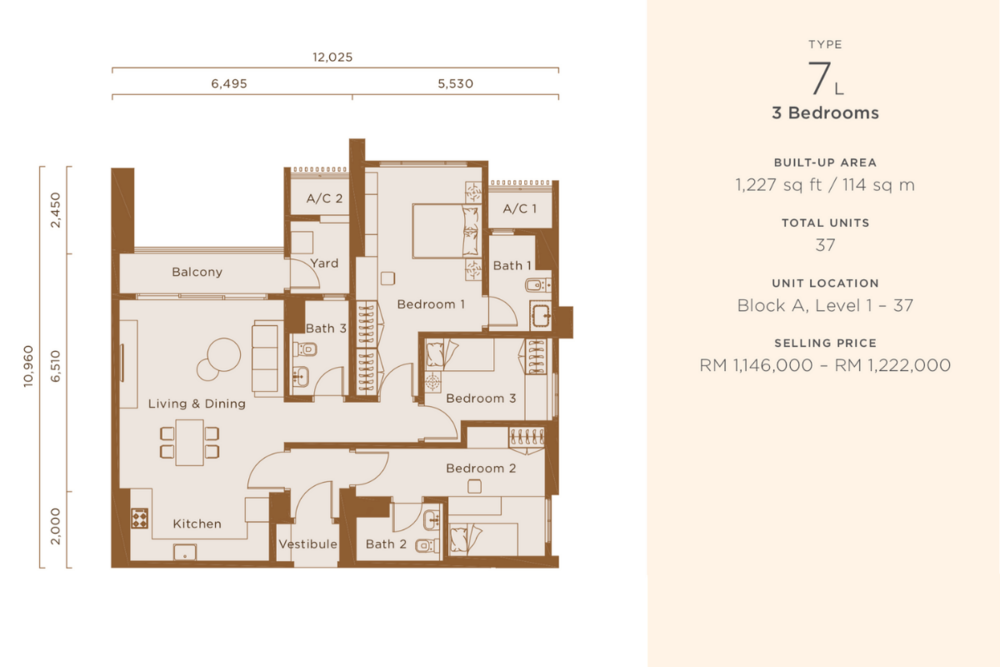 One Cochrane Residences Type 7 Floor Plan