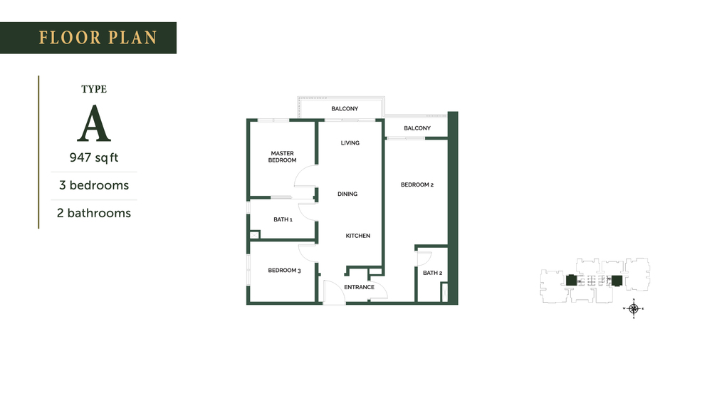 The Goodwood Residence Type A Floor Plan
