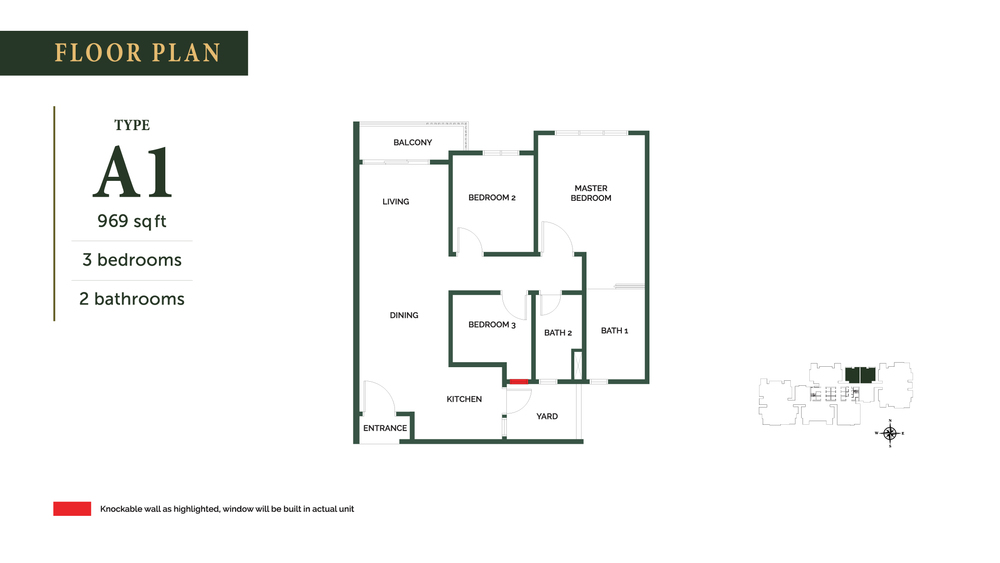 The Goodwood Residence Type A1 Floor Plan