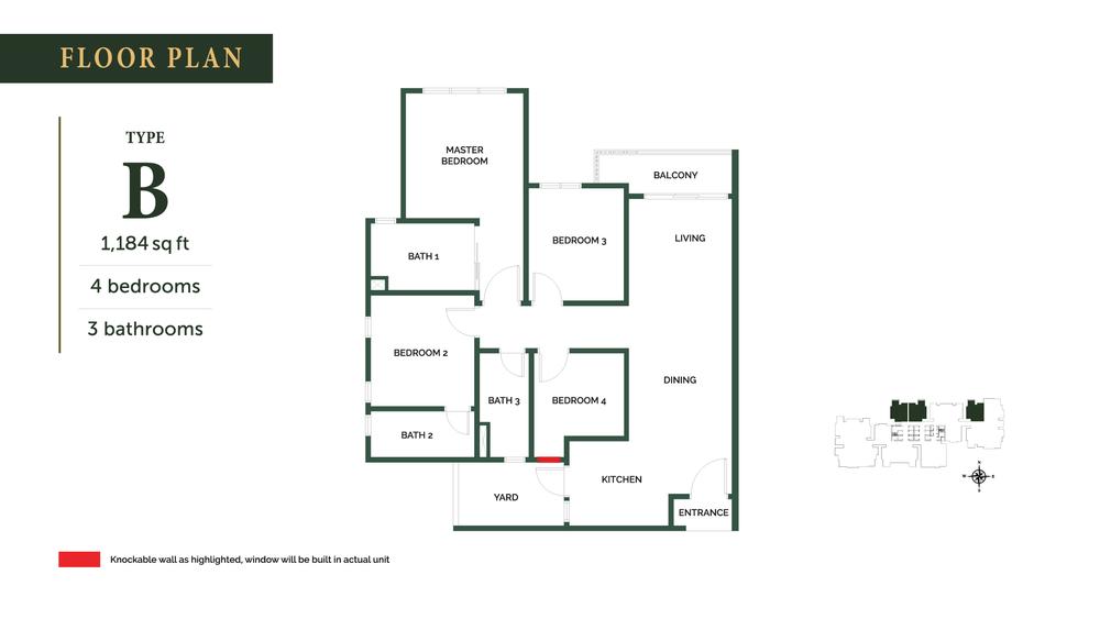 The Goodwood Residence Type B Floor Plan