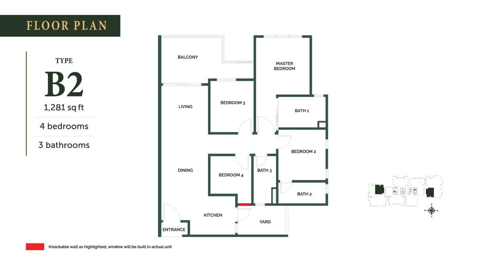 The Goodwood Residence Type B2 Floor Plan