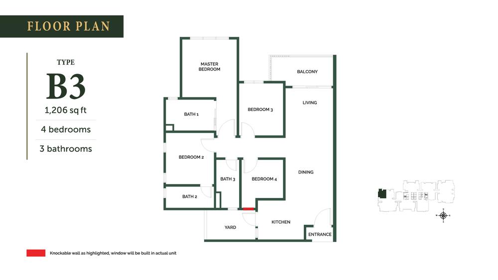 The Goodwood Residence Type B3 Floor Plan