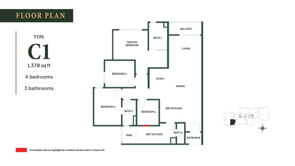 The Goodwood Residence Type C1 Floor Plan