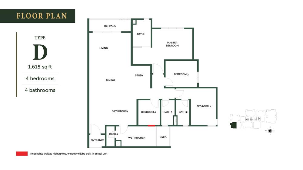 The Goodwood Residence Type D Floor Plan