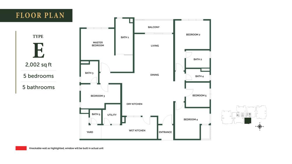 The Goodwood Residence Type E Floor Plan