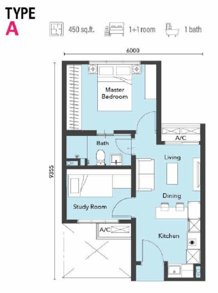 121 Residences Type A Floor Plan