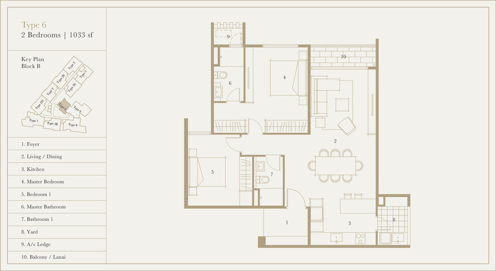Utamara Boutique Residences Block B Type 6 Floor Plan