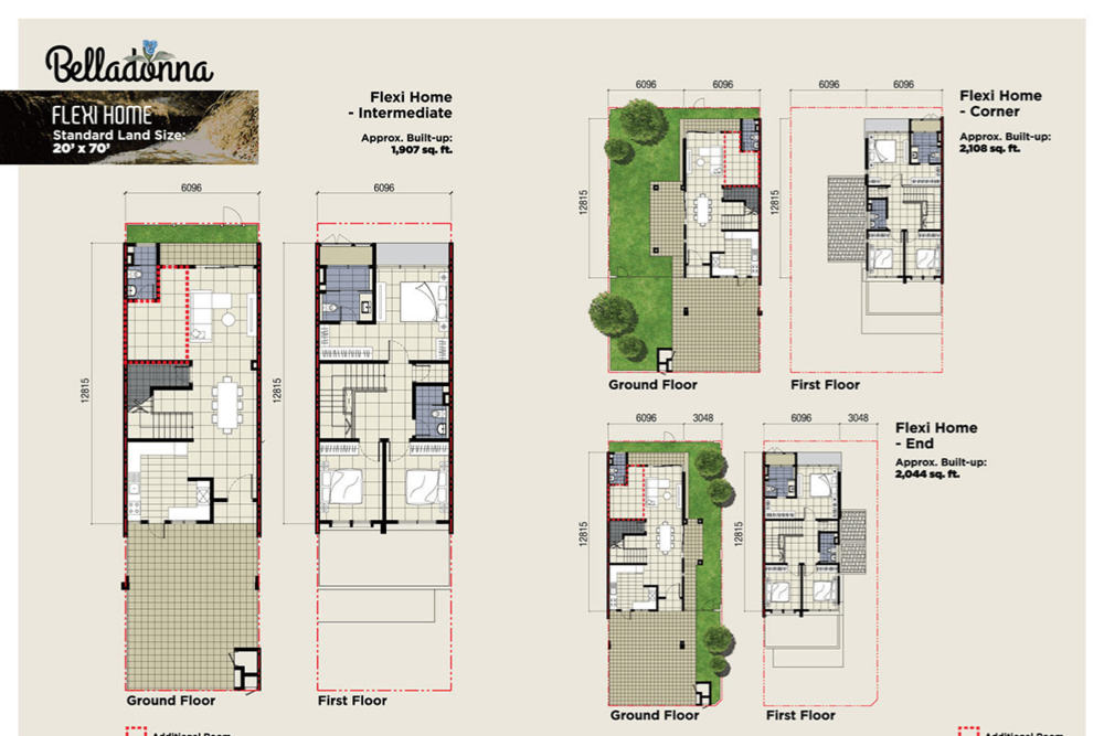 Setia Warisan Tropika Flexi Home Floor Plan