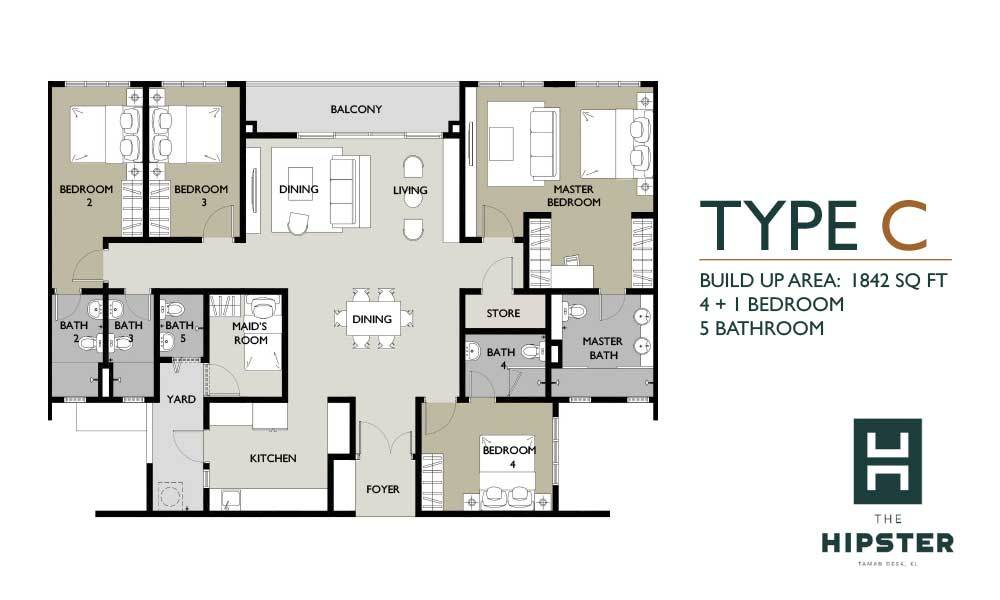 The Hipster Type C Floor Plan