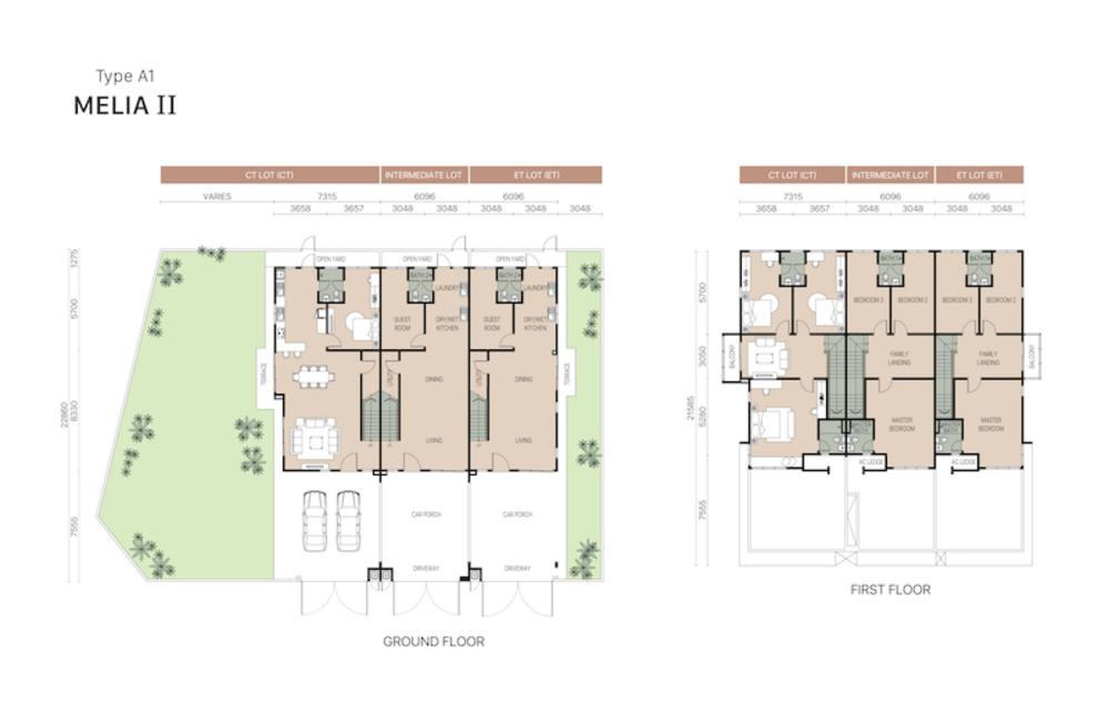 Hijayu Aman Melia II Standard Unit Floor Plan