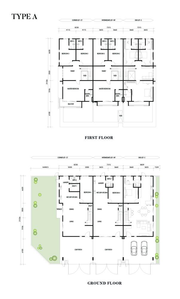 Crisantha @ Resort Homes Type A Floor Plan