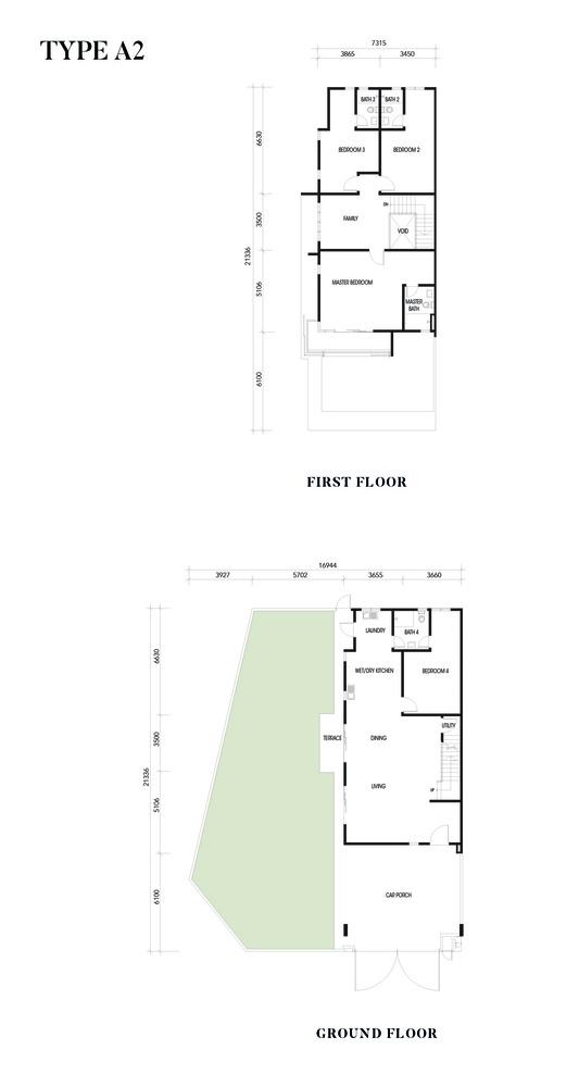 Crisantha @ Resort Homes Type A2 Floor Plan