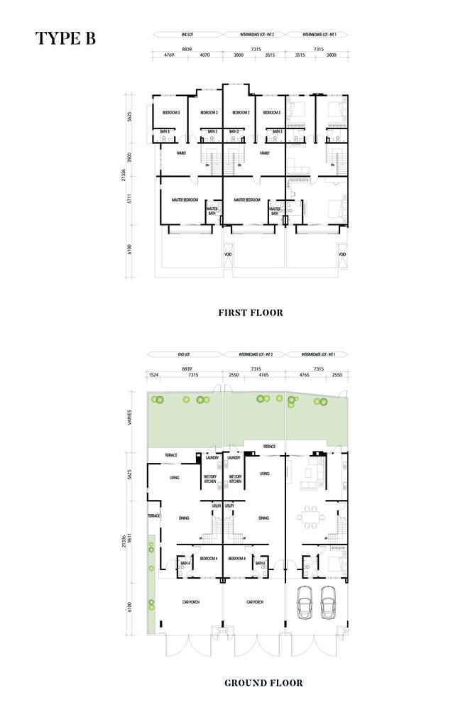 Crisantha @ Resort Homes Type B Floor Plan