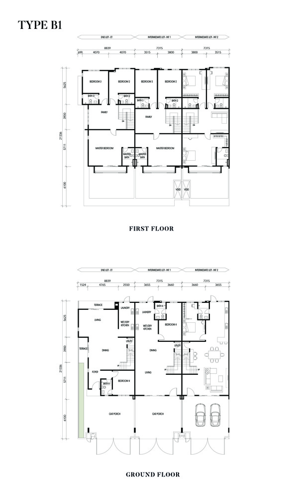 Crisantha @ Resort Homes Type B1 Floor Plan