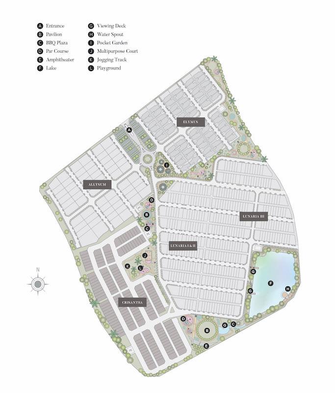 Master Plan of Crisantha @ Resort Homes