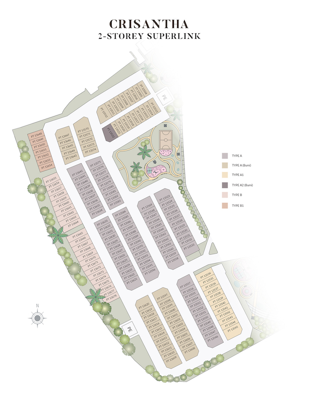 Site Plan of Crisantha @ Resort Homes