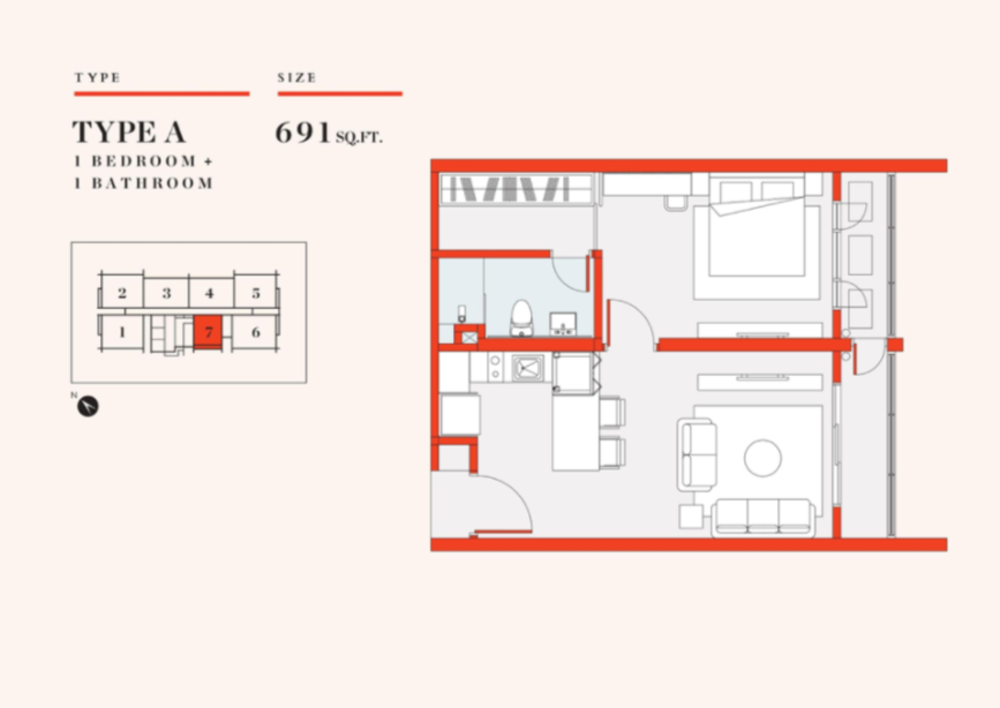 UNO Promenade Type A Floor Plan