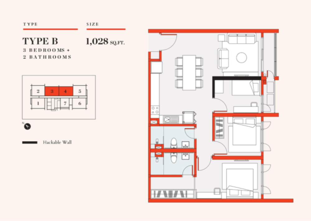 UNO Promenade Type B Floor Plan