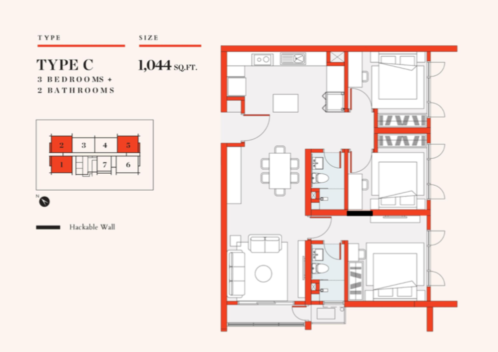 UNO Promenade Type C Floor Plan