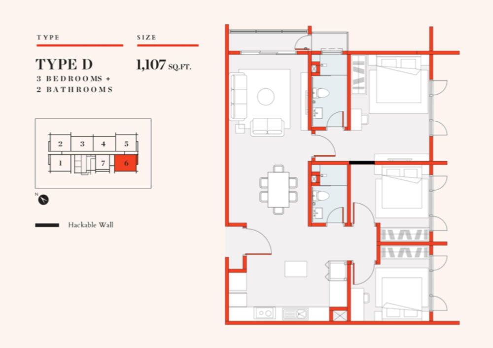 UNO Promenade Type D Floor Plan