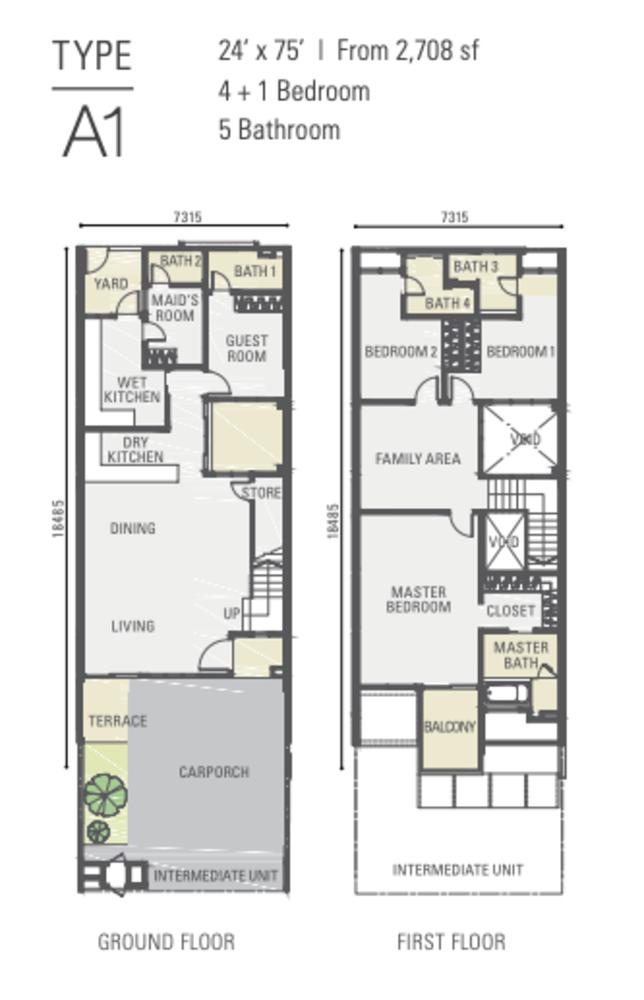 Estuari Gardens @ Estuari Type A1 Floor Plan