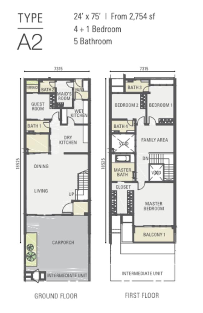 Estuari Gardens @ Estuari Type A2 Floor Plan