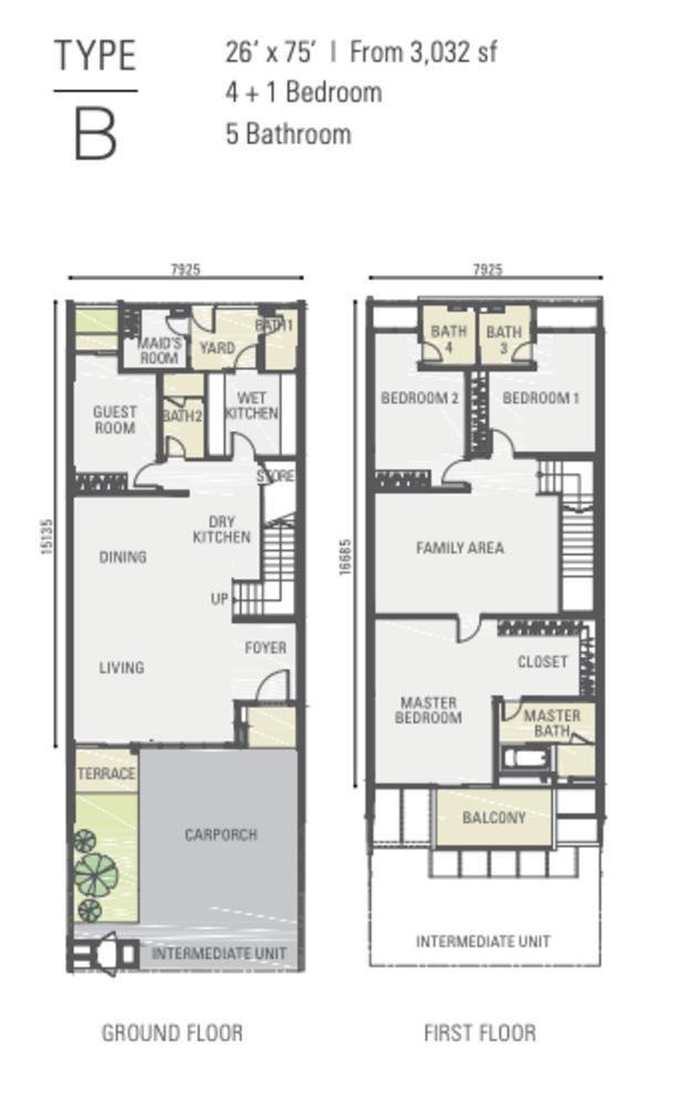 Estuari Gardens @ Estuari Type B Floor Plan