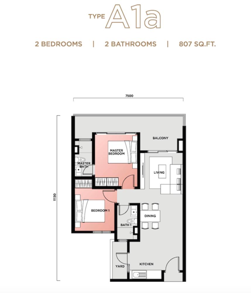 Vista Sentul Type A1a Floor Plan