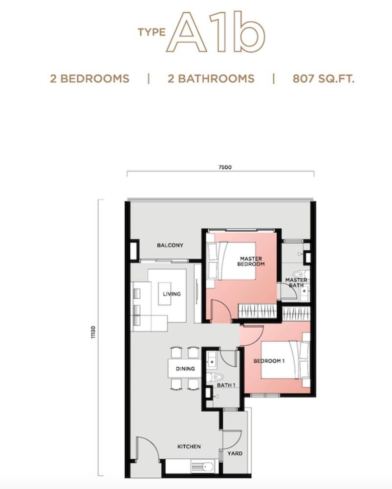 Vista Sentul Type A1b Floor Plan