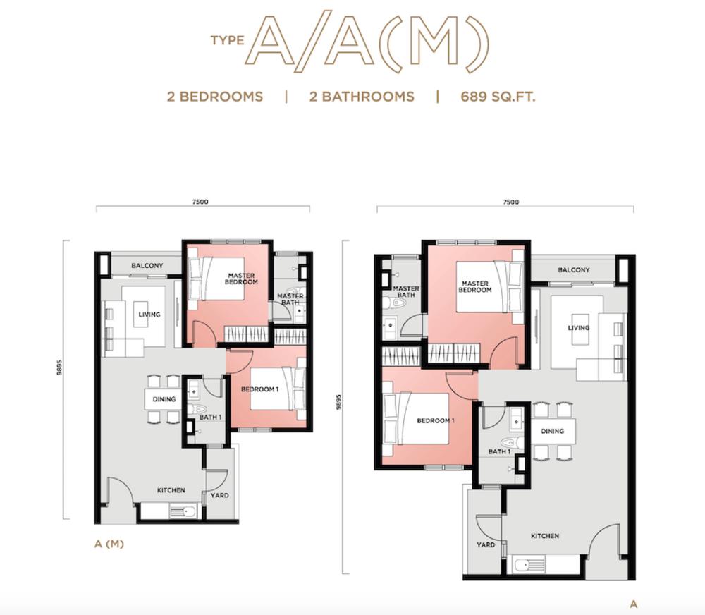 Vista Sentul Type A/A(M) Floor Plan