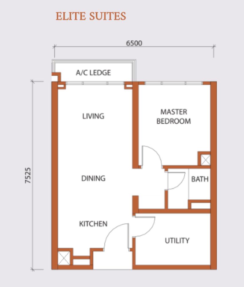 Agile Embassy Garden Type A Floor Plan