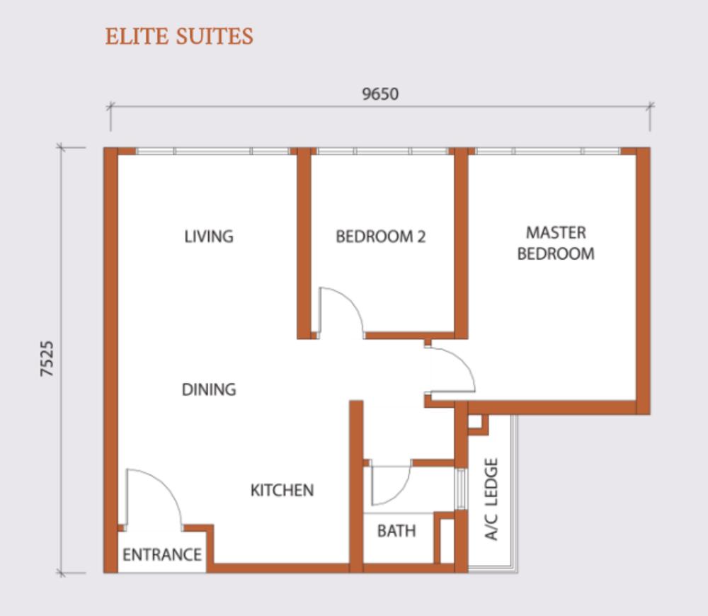 Agile Embassy Garden Type B Floor Plan