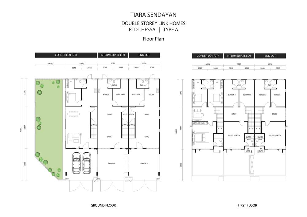 Hessa @ Tiara Sendayan Type A Floor Plan