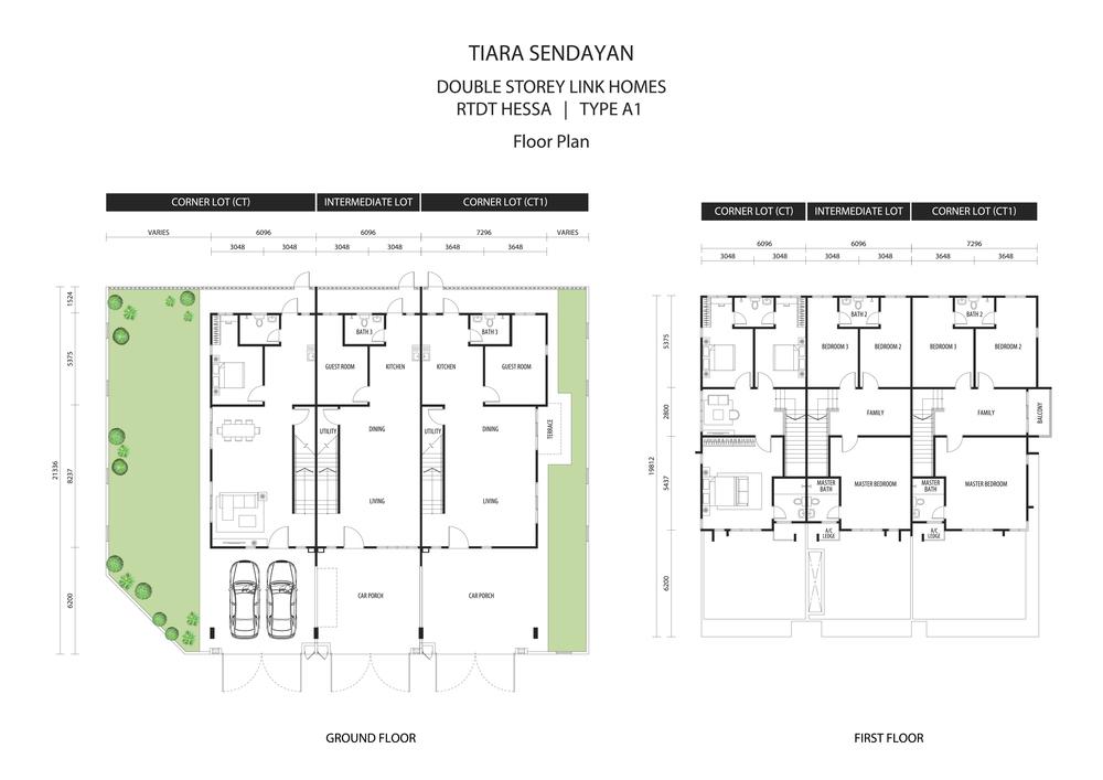 Hessa @ Tiara Sendayan Type A1 Floor Plan