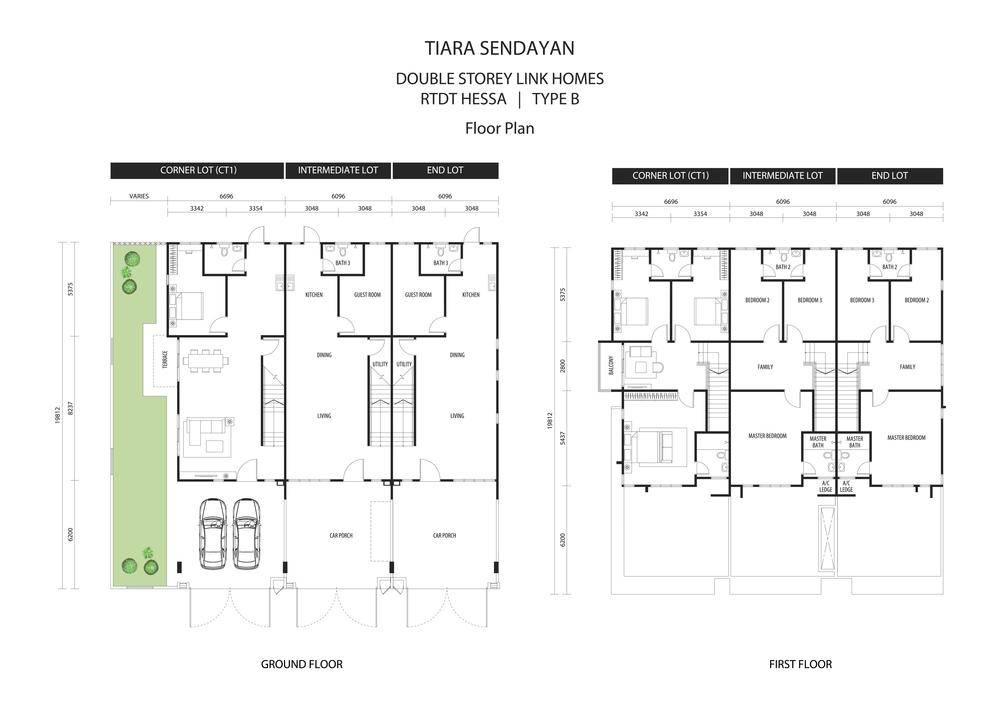 Hessa @ Tiara Sendayan Type B Floor Plan