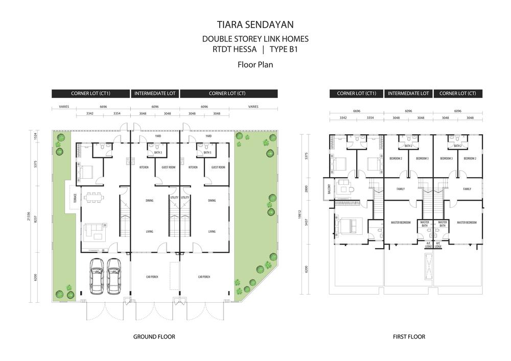 Hessa @ Tiara Sendayan Type B1 Floor Plan