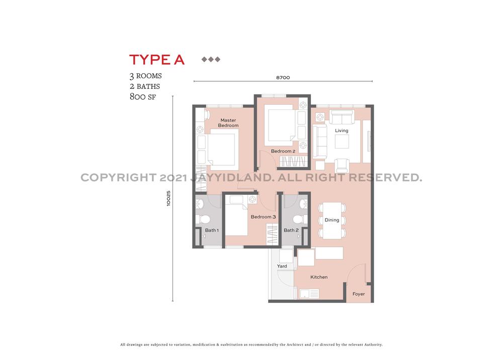 J.Satine Type A Floor Plan