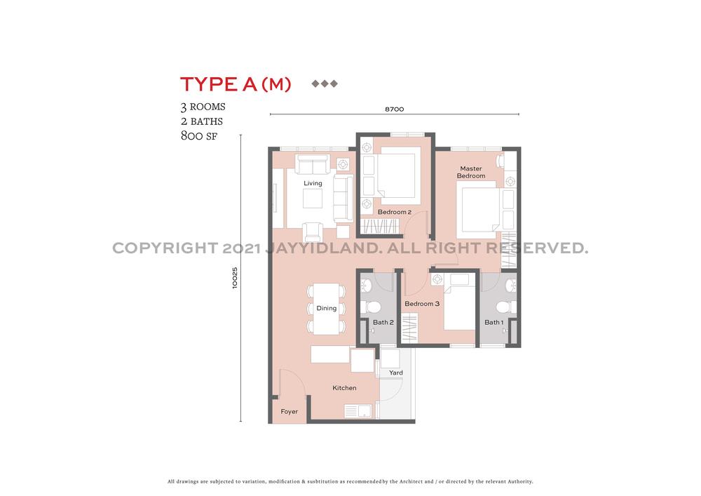 J.Satine Type A (M) Floor Plan
