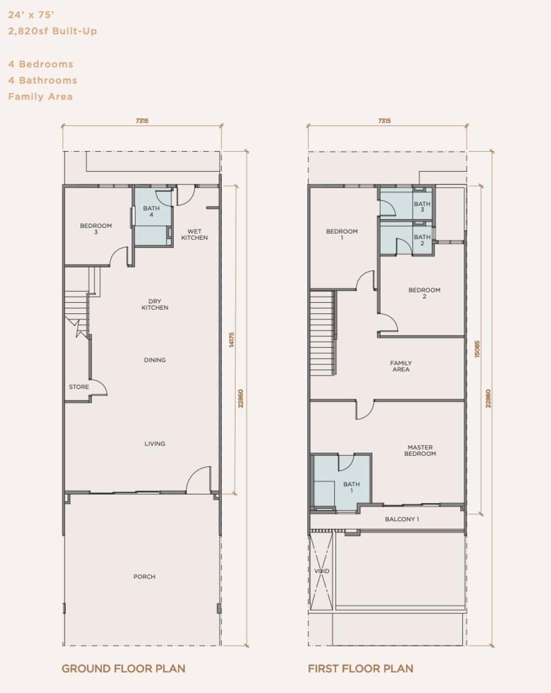 Rimbun Impian Type B Floor Plan