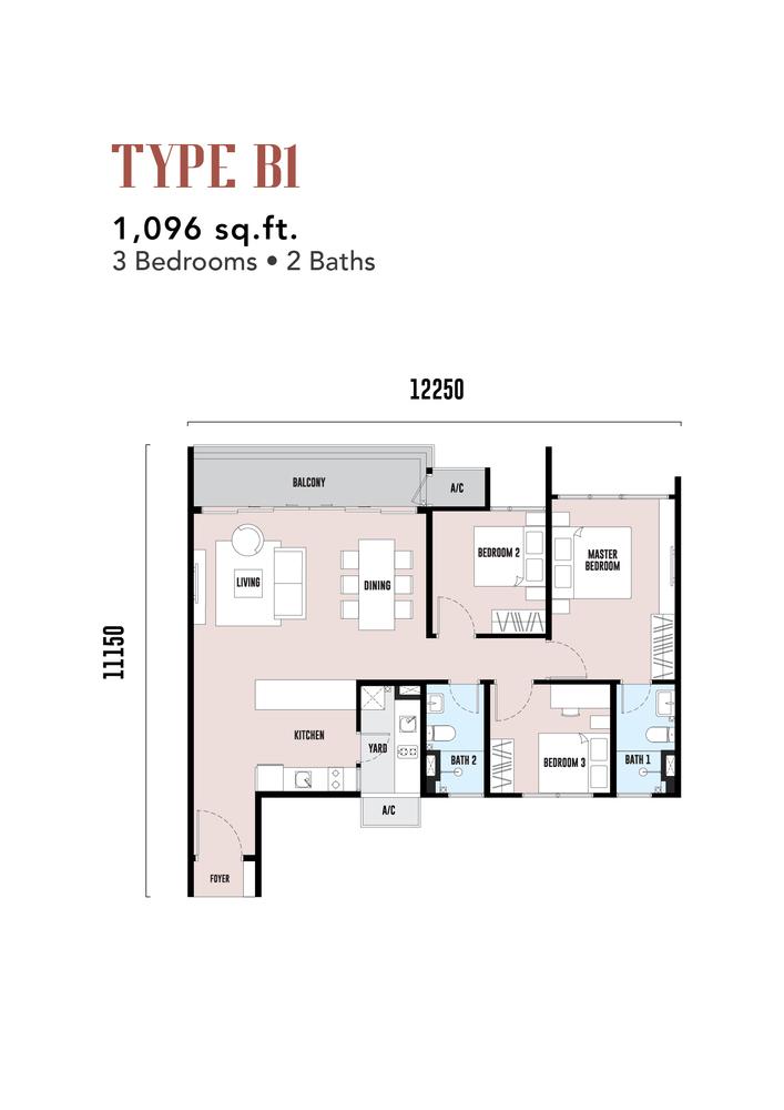 EdgeWood Residences Type B1 Floor Plan
