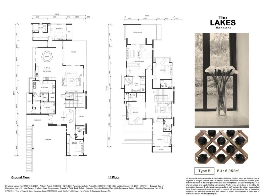 Jade Hills The Lakes Mansions Type B Floor Plan