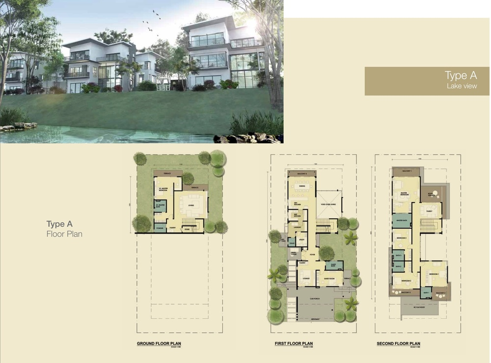 Jade Hills The Lakes Bungalows Type A Floor Plan